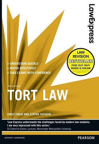 Law Express: Tort Law (Revision Guide) by Emily Finch