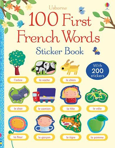 100 First French Words Sticker Book by Mairi Mackinnon