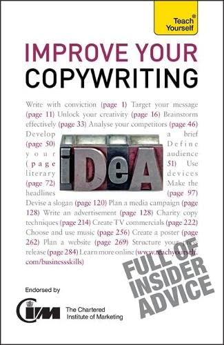 Improve Your Copywriting: Teach Yourself: 2010 by Jonathan Gabay