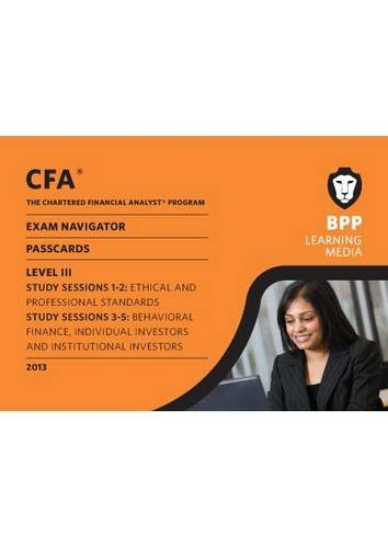 CFA Navigator - Passcards Level 3: Passcards by BPP Learning Media