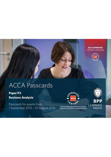 ACCA P3 Business Analysis: Passcards by BPP Learning Media