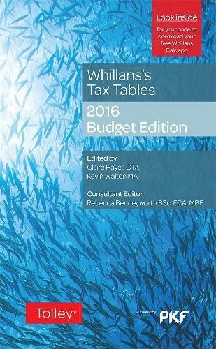 Whillans's Tax Tables: 2016-17 by Claire Hayes