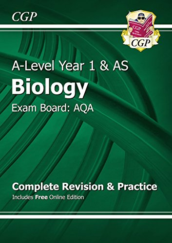 New A-Level Biology: AQA Year 1 & AS Complete Revision & Practice with Online Edition by CGP Books