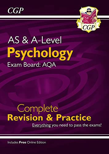 New A-Level Psychology: AQA Year 1 & 2 Complete Revision & Practice by CGP Books
