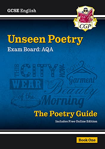 New GCSE English Literature AQA Unseen Poetry Study & Exam Practice - For the Grade 9-1 Course by CGP Books