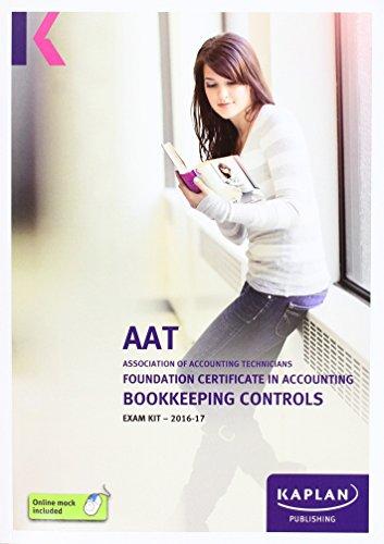 AAT Bookkeeping Controls - Exam Kit by Kaplan Publishing