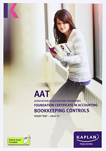 AAT Bookkeeping Controls - Study Text by Kaplan Publishing