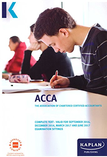 ACCA P1 Governance, Risk and Ethics - Complete Text by Kaplan Publishing