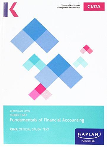 CIMA BA3 Fundamentals of Financial Accounting - Study Text by Kaplan Publishing