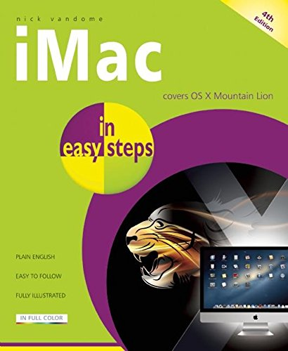 IMac in Easy Steps: Updated for OS X Mountain Lion by Nick Vandome