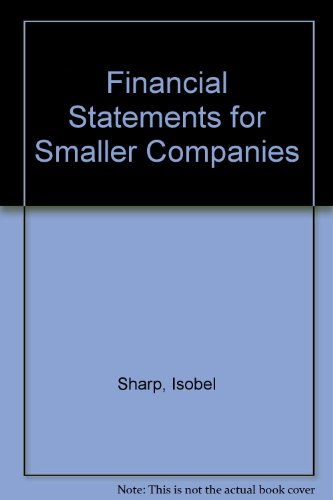 Financial Statements for Smaller Companies by Isobel Sharp