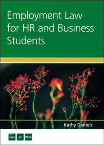 Employment Law for HR and Business Studies by Kathy Daniels