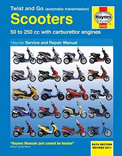 Twist & Go (Automatic Transmission) Scooters Service and Repair Manual by Phil Mather