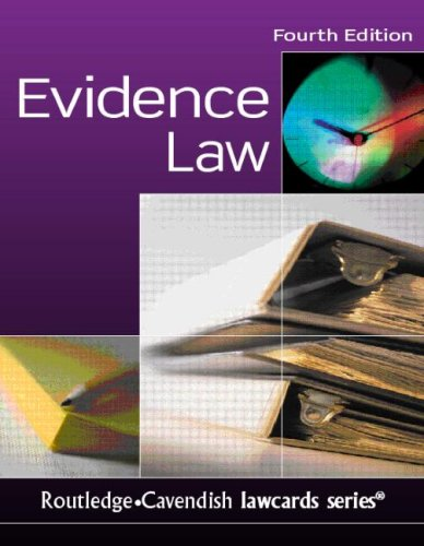 Evidence Lawcards by Lisa Down