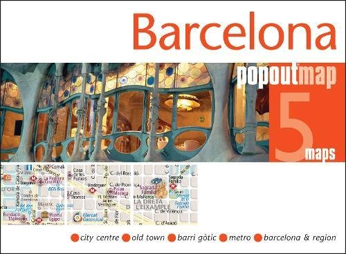 Barcelona Popout Map by Popout Maps