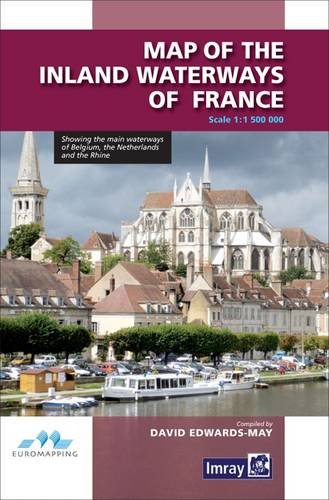 Map Inland Waterways of France by David Edwards-May