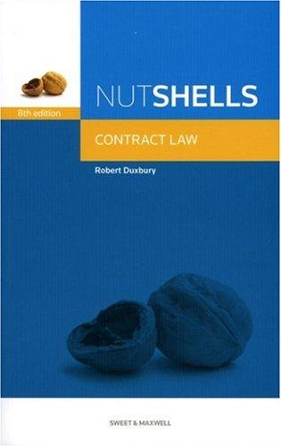 Nutshell Contract Law by Robert Duxbury