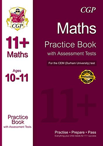 11+ Maths Practice Book with Assessment Tests (Age 10-11) for the CEM Test by CGP Books