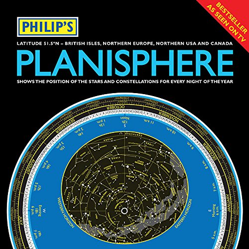 Philip's Planisphere (Latitude 51.5 North): for Use in Britain and Ireland, Northern Europe, Northern USA and Canada by