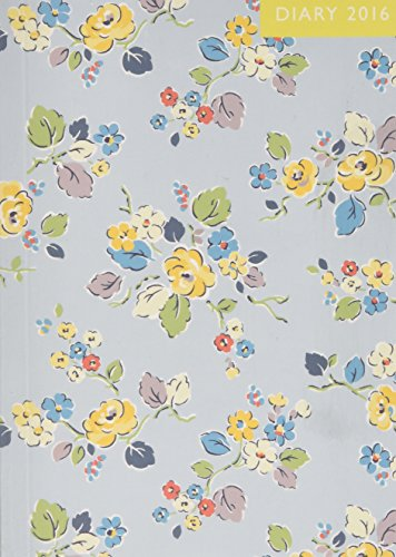 Diary 2016 Small Woodland Rose Pale Blue by