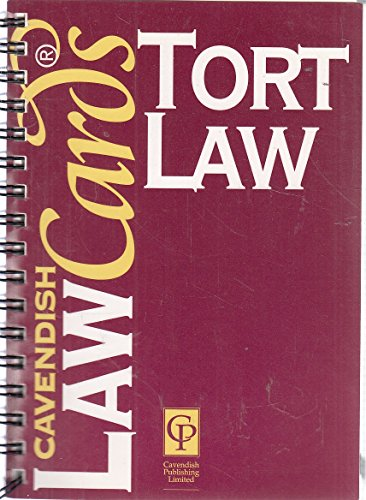 Tort Law Cards by Cavendish Publishing