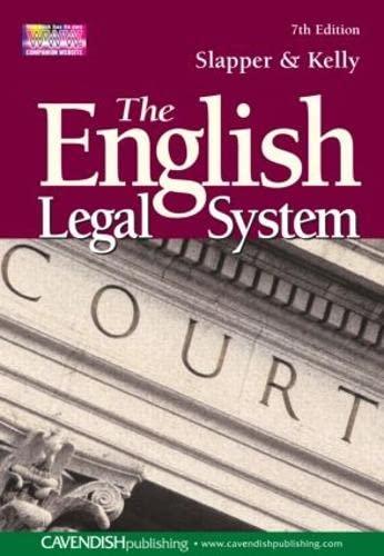 English Legal System by Gary Slapper