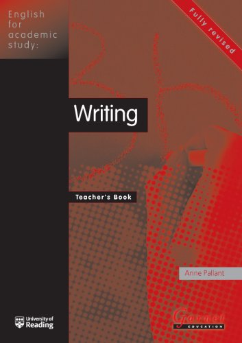 English for Academic Study - Writing Teacher Book - Edition 2 by Anne Pallant