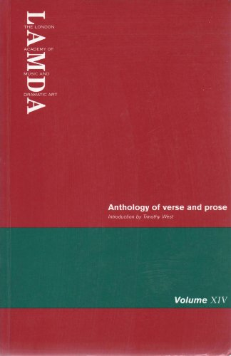 Anthology of Verse and Prose: v. 14 by London Academy of Music and Dramatic Art
