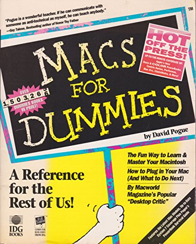Macs For Dummies by David Pogue