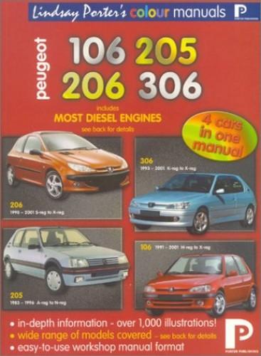 Peugeot 106, 205, 206, 306 Colour Workshop Manual by Ivor Carroll