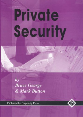 Private Security: v. 1 by Mark Button