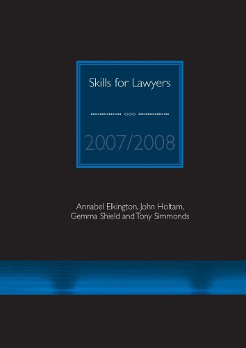 Skills for Lawyers: 2007/2008 by Annabel Elkington