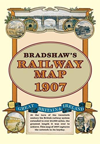 Bradshaw's Railway Folded Map 1907 by George Bradshaw