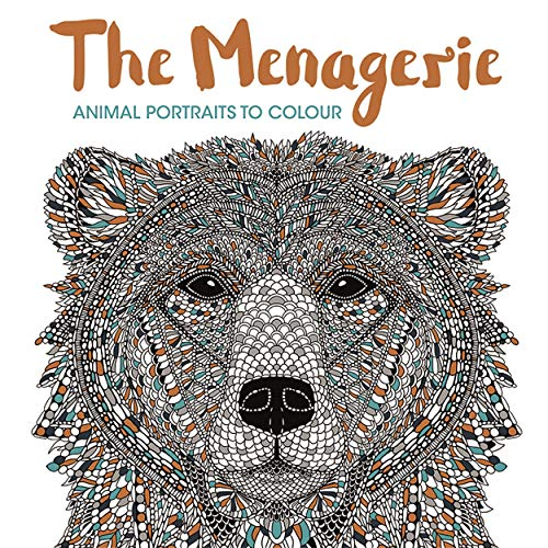 The Menagerie: Animal Portraits to Colour by Richard Merritt