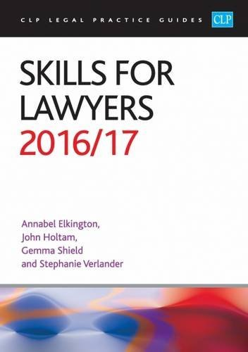 Skills for Lawyers: 2016/17 by Annabel Elkington