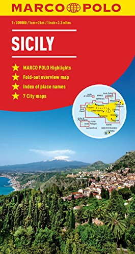 Sicily Marco Polo Map by Marco Polo