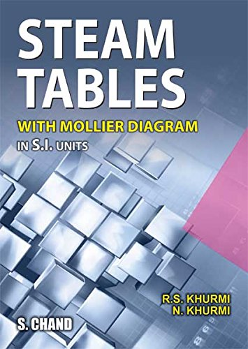 Steam Tables: With Mollier Diagram in S.I.Units by R.S. Khurm