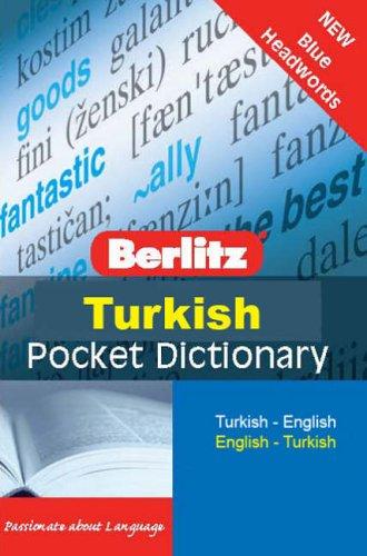 Turkish Berlitz Pocket Dictionary by H -J Kornrumpf
