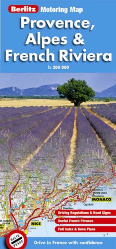 Provence and French Riviera Berlitz Motoring Map by